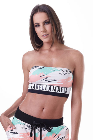 Labellamafia Mint Camo Top