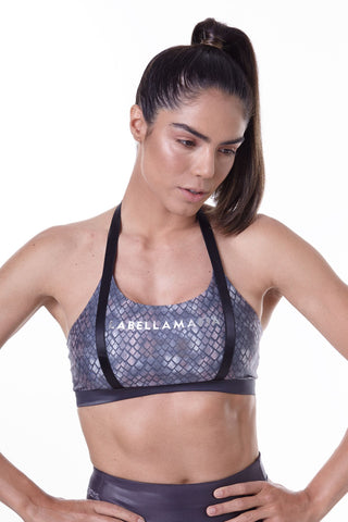 Labellamafia, women sportswear, woman sportswear, legging, yoga, fitness, woman bodybuilding Labellamafia Animal Print Gray Fitness Top,