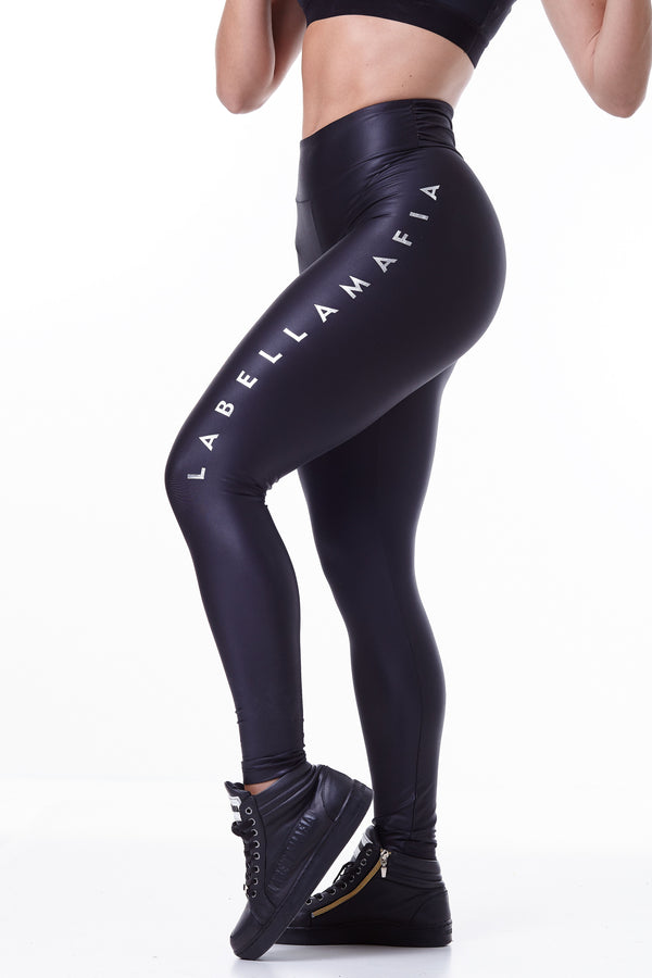 Labellamafia, women sportswear, woman sportswear, legging, yoga, fitness, woman bodybuilding,  Labellamafia Essential Style Black Legging