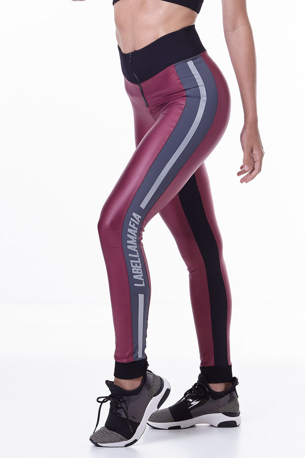 Labellamafia, women sportswear, woman sportswear, leggings, woman sports top, yoga, fitness, woman bodybuilding,  labellamafia Hardcore Claret