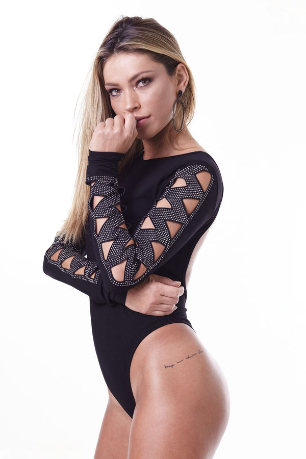 Labellamafia Glamour Rock Triangle Bodysuit
