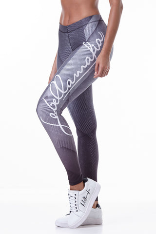 Labellamafia, women sportswear, woman sportswear, leggings, yoga, fitness, woman bodybuilding,  Labellamafia Fitness Printed Set Steel