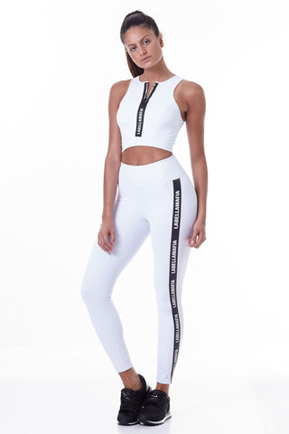 Labellamafia, women sportswear, woman sportswear, leggings, yoga, fitness, woman bodybuilding,  Labellamafia Essential White legging