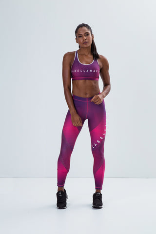 Labellamafia Sublimated Purple Legging