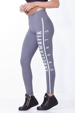 Labellamafia, women sportswear, woman sportswear, leggings, yoga, fitness, woman bodybuilding,  Labellamafia Essentials Gray Legging