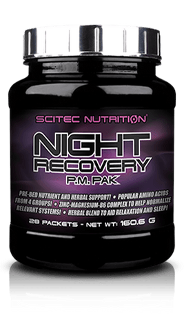 scitec, night recovery, sleeping, insomia