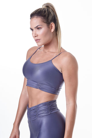 Labellamafia, women sportswear, woman sportswear, leggings, woman sports top, yoga, fitness, woman bodybuilding,  Glam Rock Shiny Fitness Top