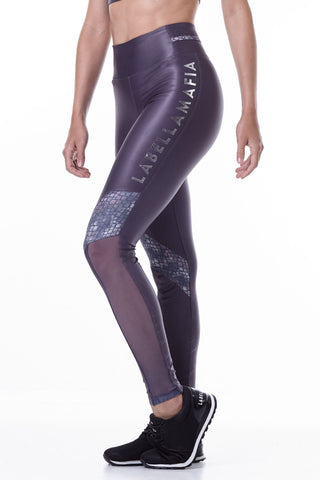 Labellamafia, women sportswear, woman sportswear, legging, yoga, fitness, woman bodybuilding Labellamafia Animal Print Gray Legging