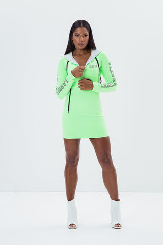 Labellamafia Green Fluo Sport Dress