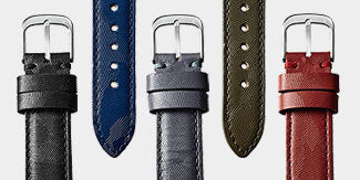Aqua Leather Tapered Shape Strap