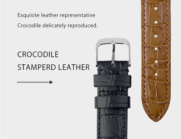 Crocodile Embossed Strap