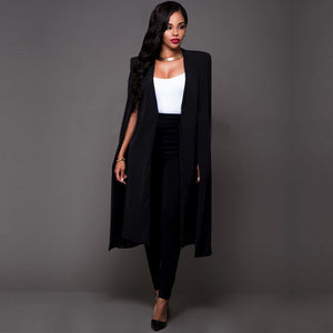 NEW Fashion Office Lady Elegant Women Stylish Long Suit Coat