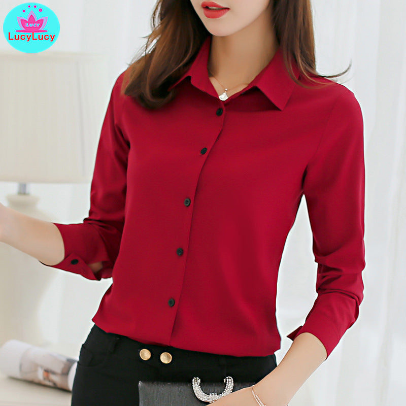 Professional Women's Long Sleeve Fashion Wear Shirts (S-2XL)