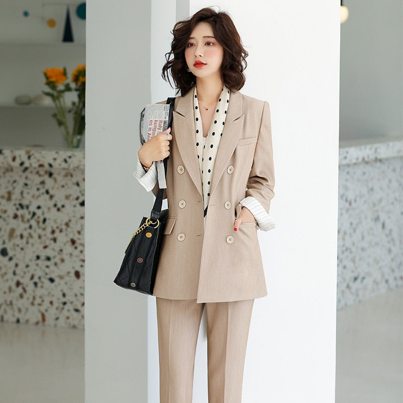 High Quality Professional Large Size Trousers Suit  (S-4XL)