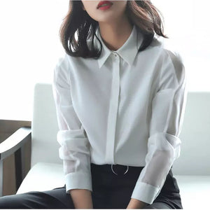 Professional Office Lady Blouse  (S-2XL)