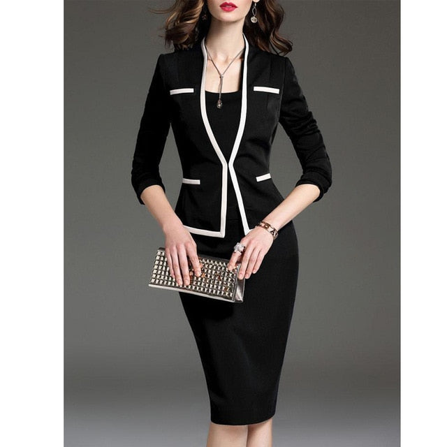 Office Lady Two-Piece Women's Professional Suits (S-3XL)