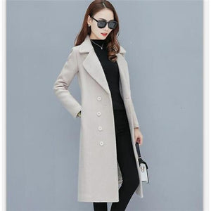 New Winter Wear Professional Women's Thick Woolen Coat (S-2XL)