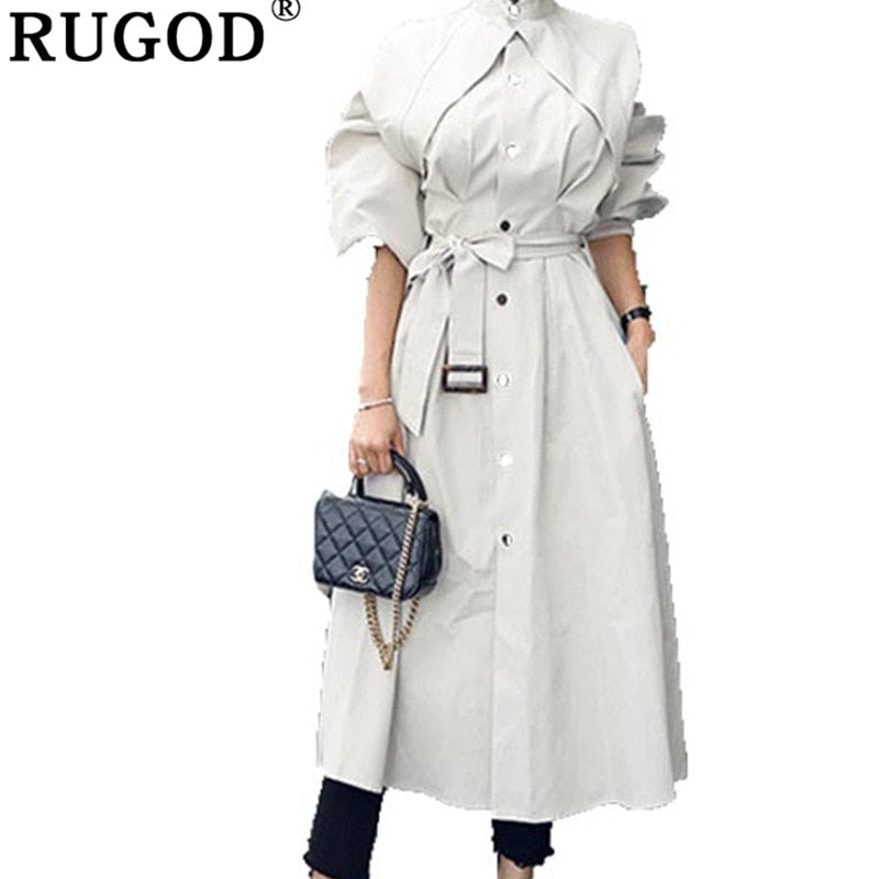 RUGOD 2019 Professional Winter High Quality Comfortable Loose Trench Coat  (S-XL)