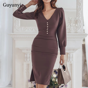 Professional Office Lady Dress  (S-XL)