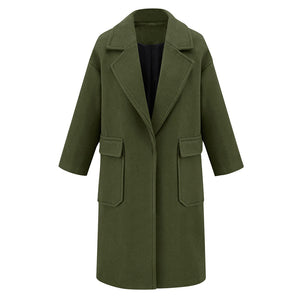 SAGACE High Quality Ladies Professional Wear One Buttoned Coat  (S-2XL)