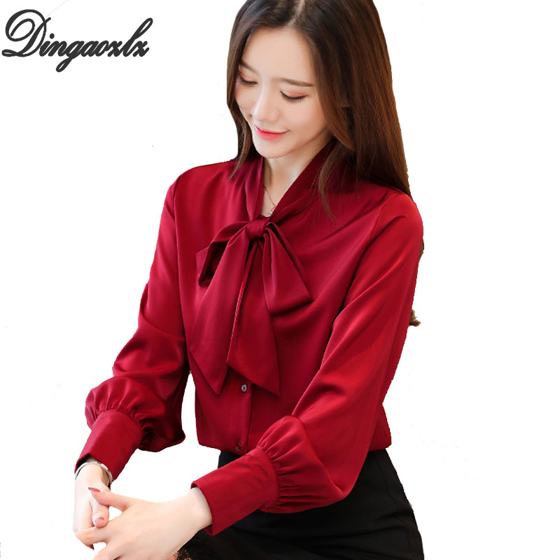 'Dingaozlz' New Professional Women Blouses (S-3XL)