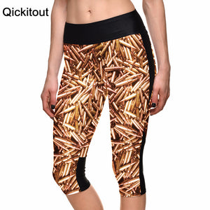 Wholesales Sexy New Hot Women's 7 point pants women legging Bullet wounds digital print women high waist Side pocket phone pant