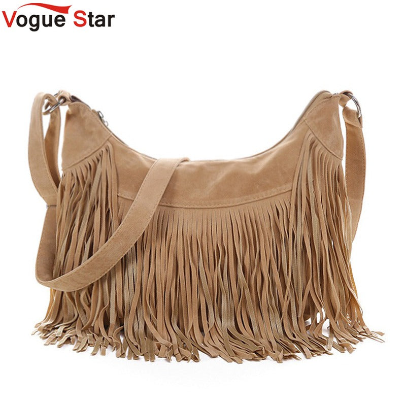 Vogue Star women messenger bags handbags  famous brands fringe tassel bag female bolsas  fashion cross body bag YB40-397