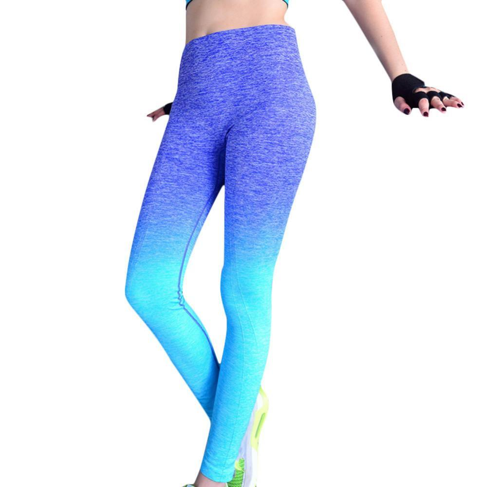 High Elastic Comfortable Workout Pants Gradual Change Breathable Women's Fitness Leggings
