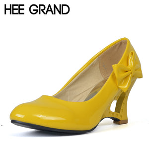 HEE GRAND [Big Size] Wedges High Heels Cut-Outs Love Heart Bottom Shoes