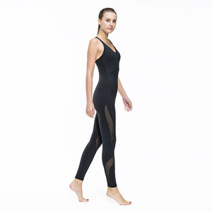 Women Fitness Yoga Set Gym Sports Running Jumpsuits Jogging Dance Tracksuit Breathable Quick Dry Spandex Sportswear Clothes Suit