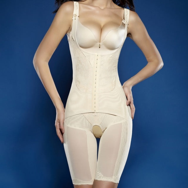 Full Body Waist Cincher Hip Abdomen Tummy Control Corset Shapewear Suit Hot Shapers