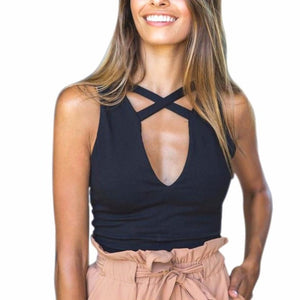 Women's Casual Fashion Women Tank Tops Bustier 3 Colours Vest Crop Top Bralette Tops Sleeveless slim Blouse #LSIW