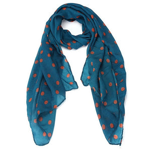 JECKSION 2016 women scarf Long Wrap Shawl Polka Dot Chiffon Scarf Scarves Stole #LN