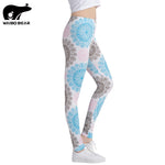 Fitness Leggings Women Printed Leggings Slim High Waist Leggings Woman Pants Push Up Leggins Legins Workout Female Sexy Trouser
