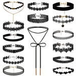 Boniskiss 15pcs/lot Tattoo Punk Collars Vintage Love Lace Flower Necklace Choker
