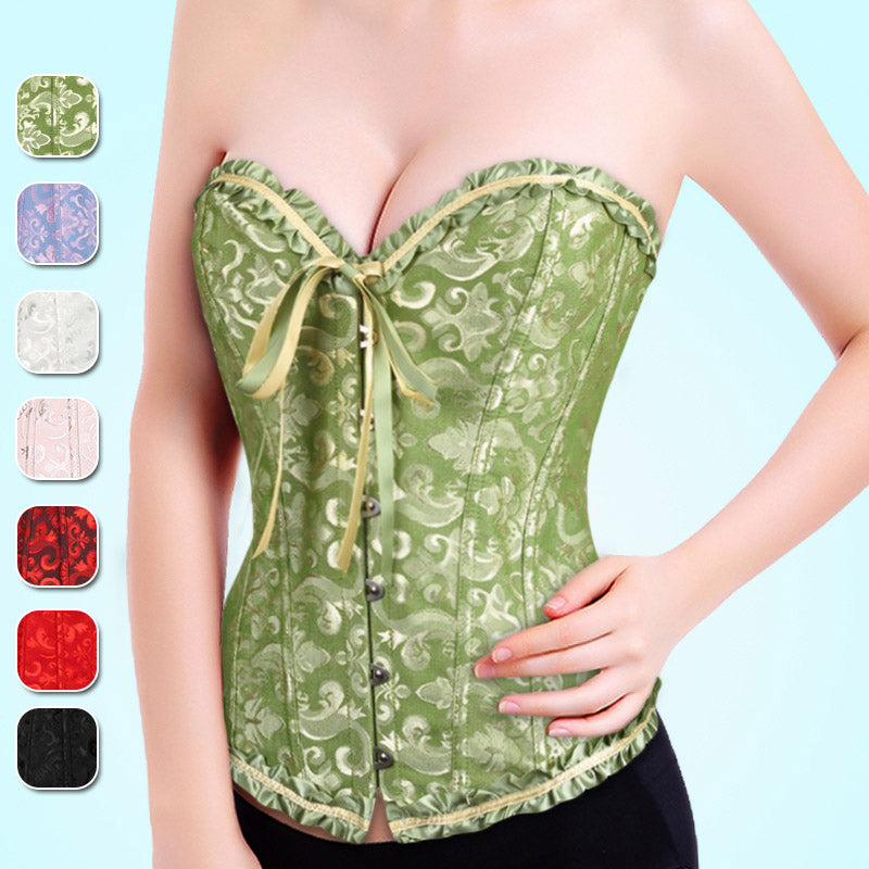 Vintage Sexy Corset Body Shaper Solid Color Bandage Slimming Waist Trainer Cincher Women Postpartum Repair Girdle H9