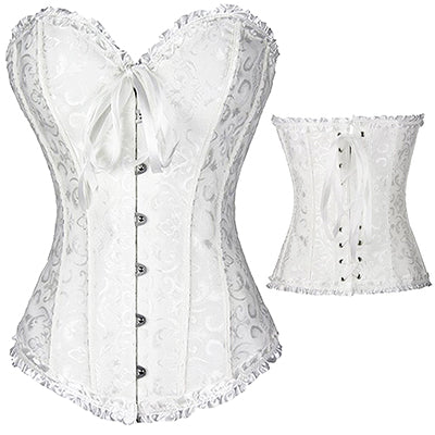 Sexy Women steampunk clothing gothic Plus Size Corsets Lace Up boned Overbust Bustier Waist Cincher Body shaper