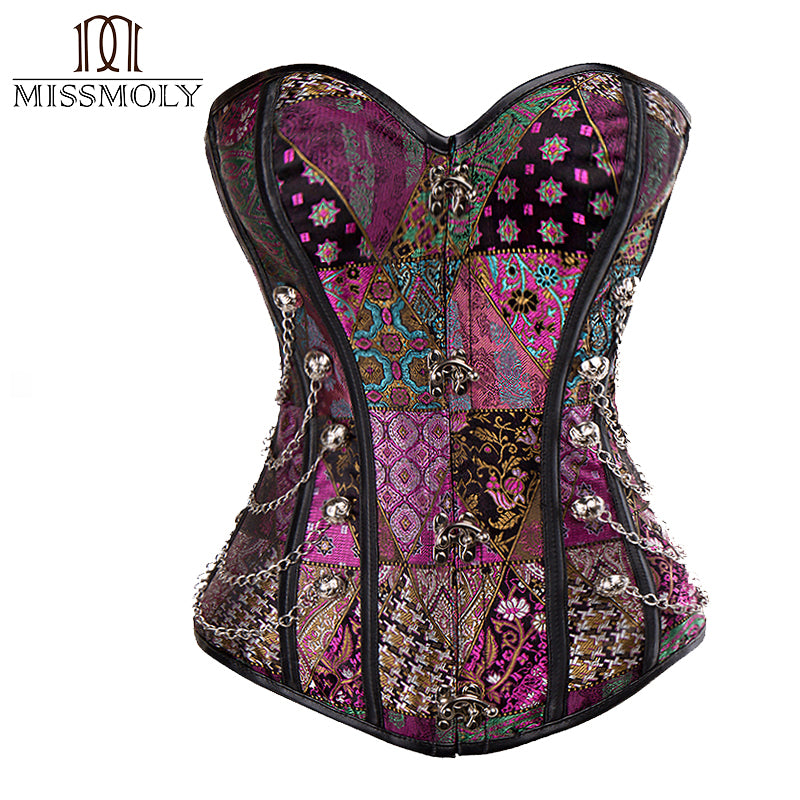 Women Waist Trainer Corsets Steampunk Corselet Gothic Clothing Sexy Lingerie Slimming Waist Cincher Party Corsets and bustiers