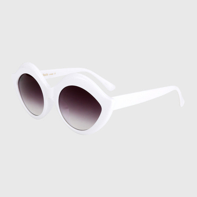 ROYAL GIRL Retro Vintage Oval Labiate Sunglasses Lip Sun glasses Alien Shades White Black Red Blue UV400 ss055