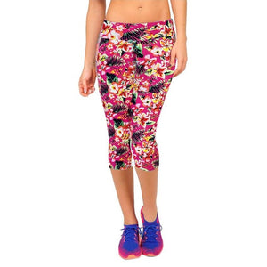 Summer Women High Waist Elastic Fitness Women Pants Printed Stretch Leggings