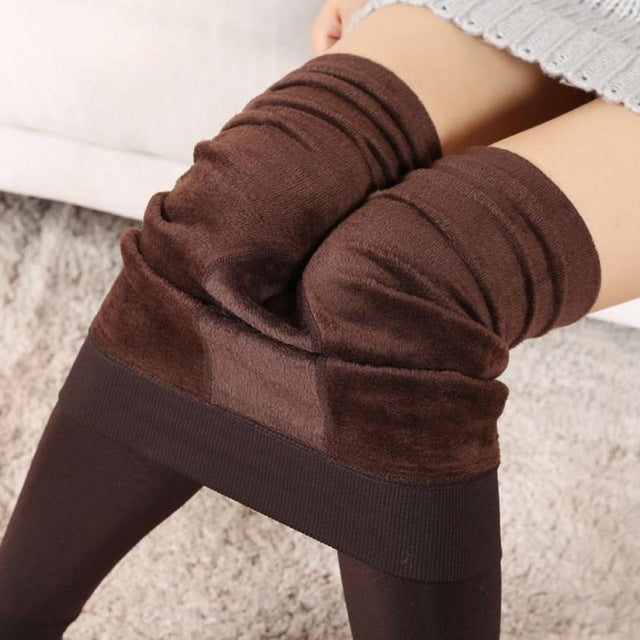Women's Fashion Winter Thick Keep Warm Fleece Lined Thermal Stretchy Beautiful Casual Leggings