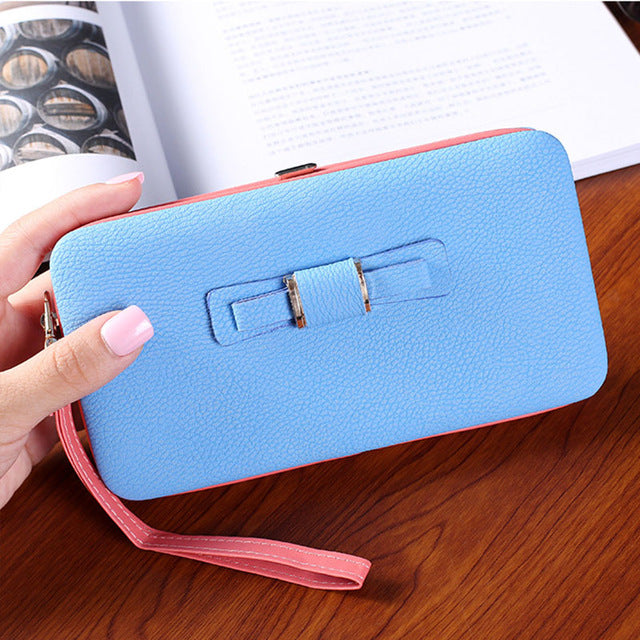 FLYING BIRDS Female Purse Wallet Famous Brand Card Holders Cellphone Pocket gifts women money bag double fold clutch  a2958