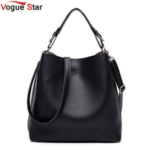 High Quality Leather Women Bag Bucket Shoulder Bags Solid Big Women Handbag Set Large Capacity Tote Bolsas Feminina Famous LB441