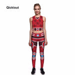 Qickitout Women Leggings Vest Sets For Summer Beach On Holiday Sexy Simple Fashion Spo rts Clothes Sleeveless O-Neck Long Pants