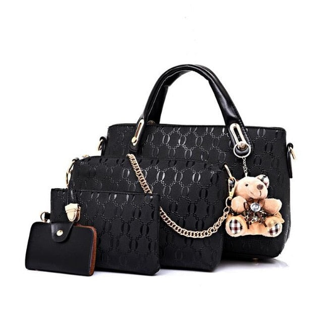 Vogue Star Women Bag Top-Handle Bags Female Famous Brand 2018 Women Messenger Bags Handbag Set PU Leather Composite Bag LB464