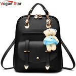 Vogue Star 2018 women backpack leather backpacks women travel bag school bags backpack women's travel bags Rucksack bolsas LS535