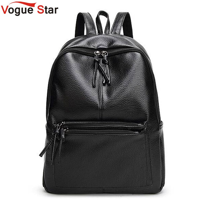Vogue Star 2018 New Travel Backpack Korean Women Backpack Leisure Student Schoolbag Soft PU Leather Women Bag LB64