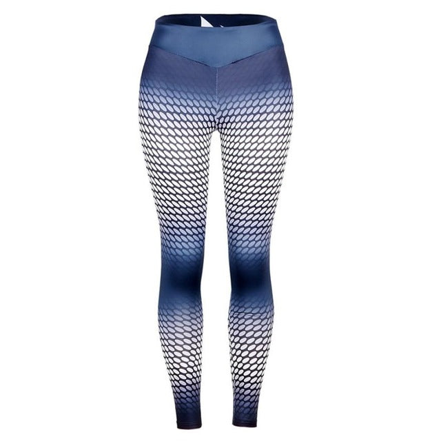 Dotting Print gradiented color Leggings Workout Fitness Lounge Pants fitness high waist elastic leggings