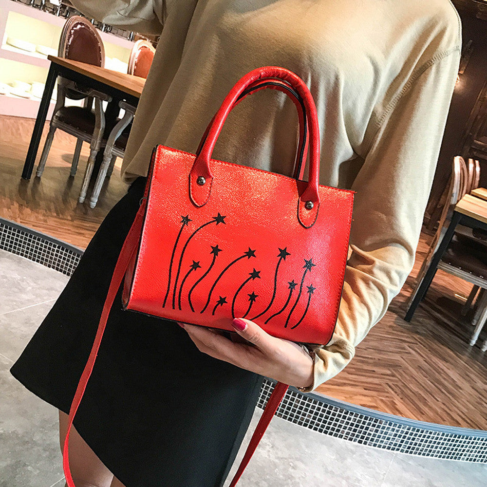 Woman Tote Casual Bags Crossbody Bag Printing Leather Handbag Shoulder Bag