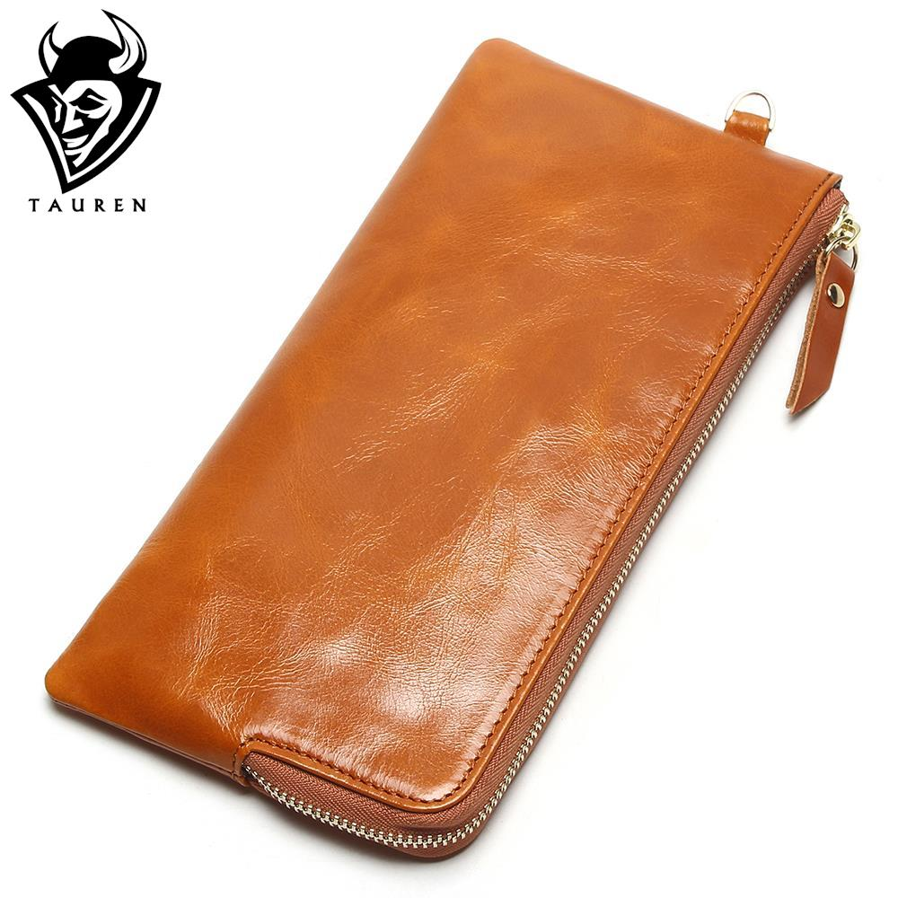 Women Phone Bag Candy Oil Leather Wallet Long Design Day Clutch Casual Lady Cash Purse Women Coin Purse Carteira Feminina